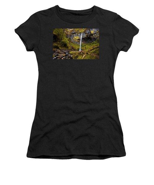 Elowah Falls Oregon Women's T-Shirt
