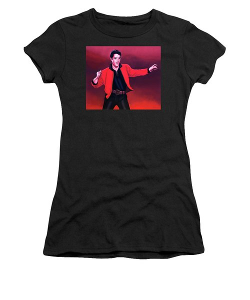 Elvis Presley 4 Painting Women's T-Shirt (Athletic Fit)