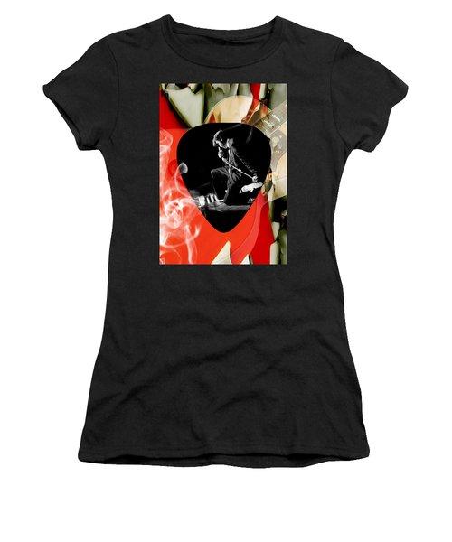 Elvis Presley Art Women's T-Shirt (Junior Cut) by Marvin Blaine