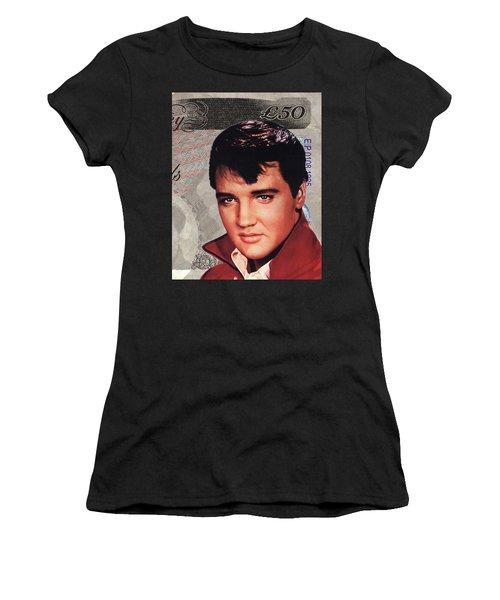 Elvis Presley Women's T-Shirt (Junior Cut) by Unknown