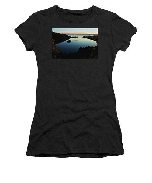 Emerald Bay, Lake Tahoe, Dawn Women's T-Shirt (Athletic Fit)