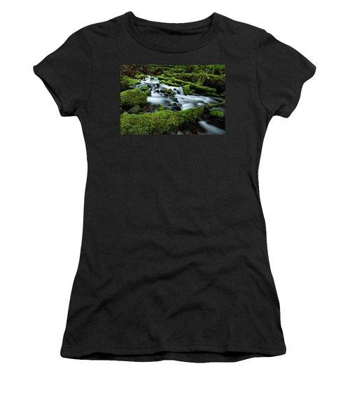 Emerald Flow Women's T-Shirt (Athletic Fit)