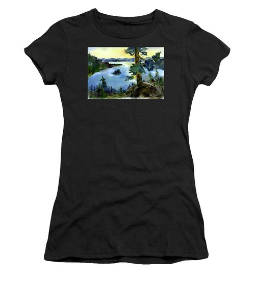 Emerald Morn, Lake Tahoe Women's T-Shirt