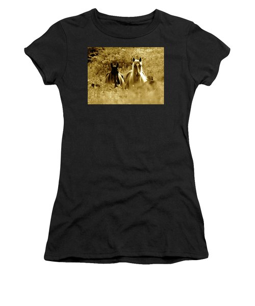 Emerging From The Farm Women's T-Shirt (Athletic Fit)