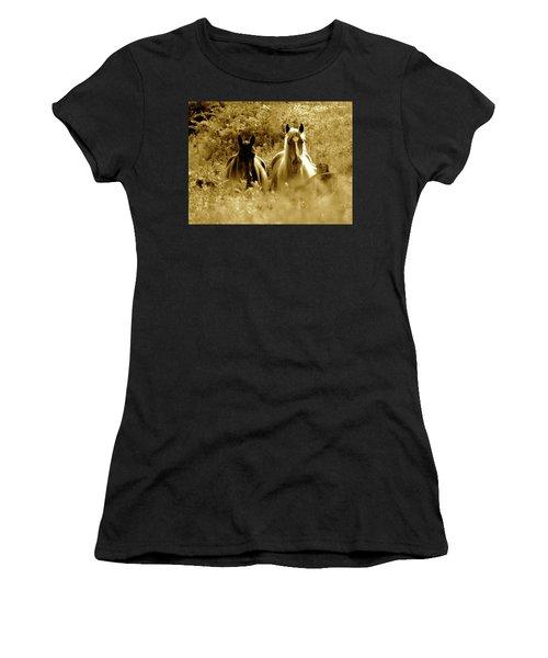 Emerging From The Farm Women's T-Shirt