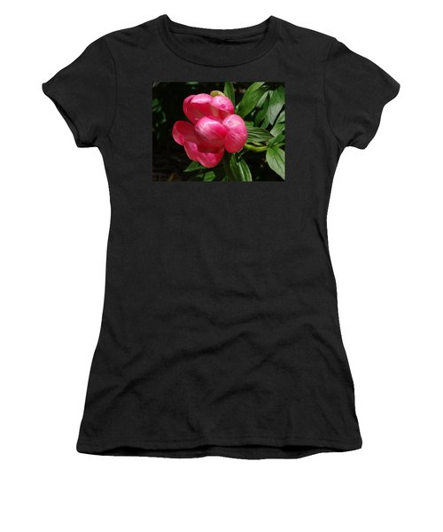 Emerging Peony Bloom Women's T-Shirt (Athletic Fit)