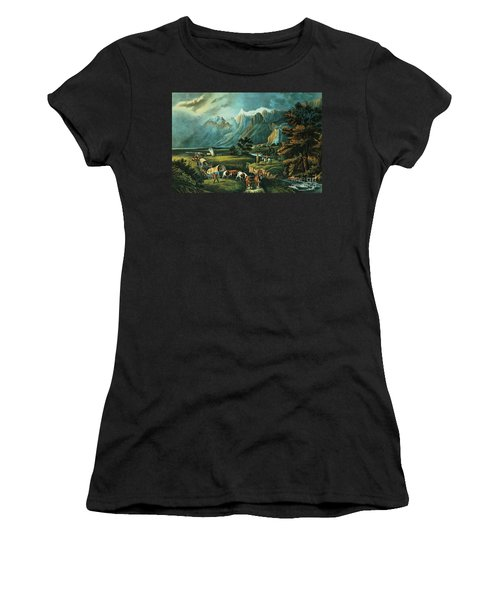 Emigrants Crossing The Plains Women's T-Shirt