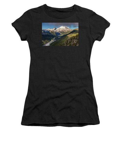 Women's T-Shirt featuring the photograph Emmons Vista Of Mount Rainier by Pierre Leclerc Photography