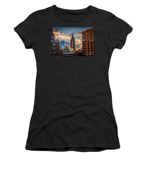 Empire State Building Sunset Rooftop Women's T-Shirt
