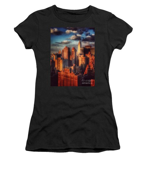 Empire State In Gold Women's T-Shirt (Junior Cut) by Miriam Danar