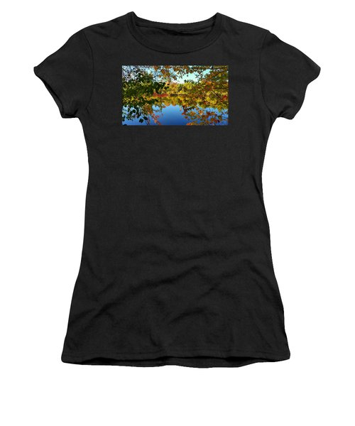 Women's T-Shirt (Junior Cut) featuring the photograph Enchanted Fall by Valentino Visentini