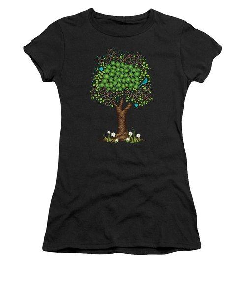 Enchanted Tree Women's T-Shirt (Junior Cut) by Serena King