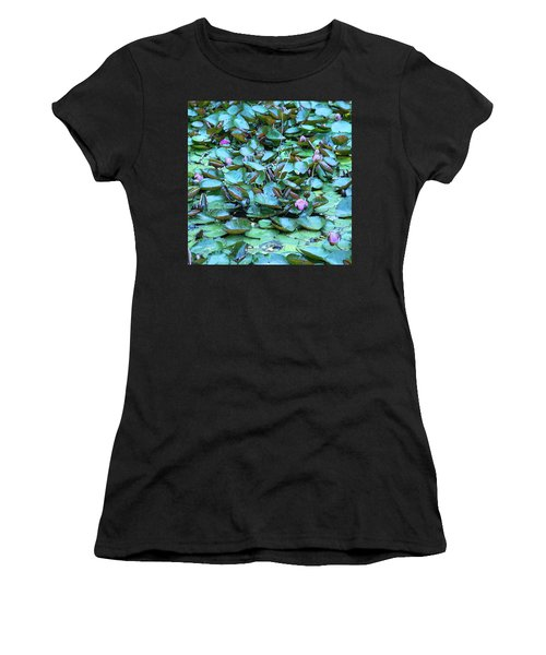 Painted Water Lilies Women's T-Shirt (Junior Cut) by Theresa Tahara