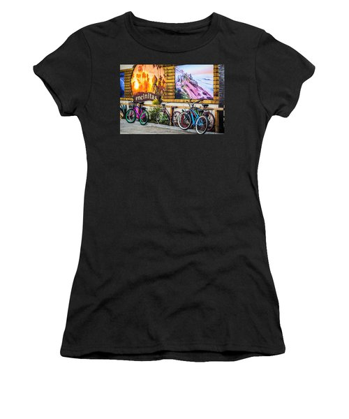 Bicycle Parking Women's T-Shirt (Athletic Fit)