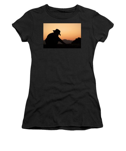 Women's T-Shirt (Athletic Fit) featuring the photograph End Of The Day by Lynn Geoffroy