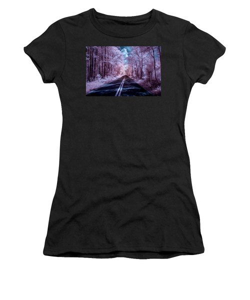 Women's T-Shirt (Junior Cut) featuring the photograph End Of The Road by Louis Ferreira