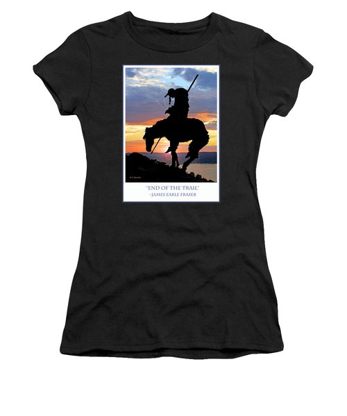 End Of The Trail Sculpture In A Sunset Women's T-Shirt