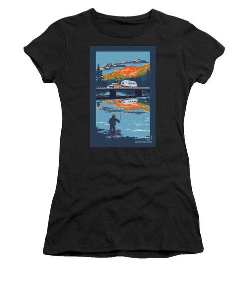 Enderby Cliffs Retro Airstream Women's T-Shirt