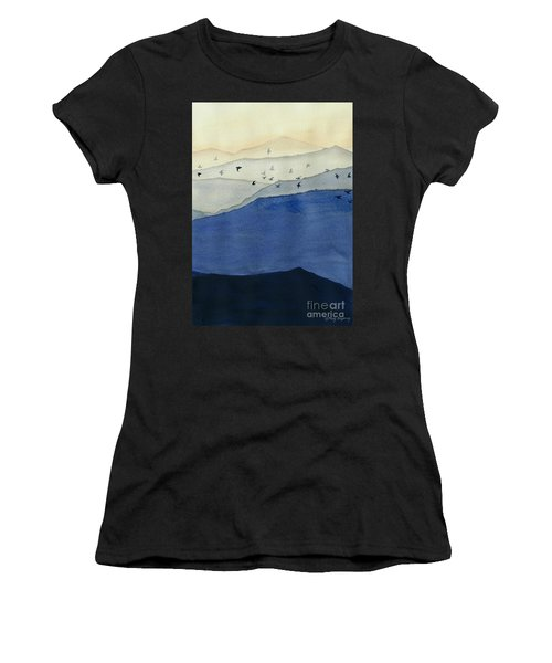 Endless Mountains Right Panel Women's T-Shirt