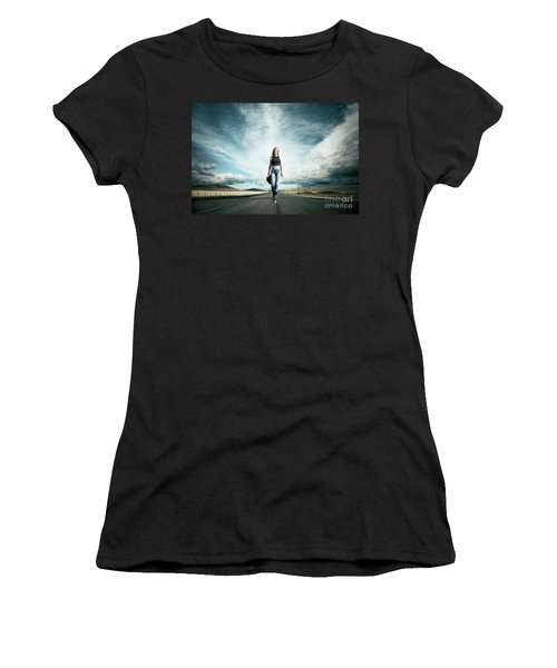 Endless Road To Happiness Women's T-Shirt