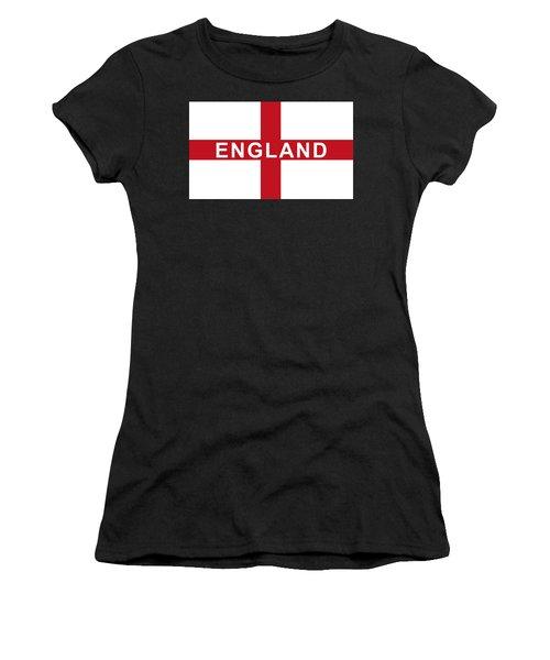 Women's T-Shirt featuring the digital art England Flag by JLowPhotos