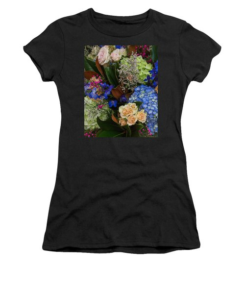 Women's T-Shirt (Athletic Fit) featuring the photograph English Bouquet by Julie Andel