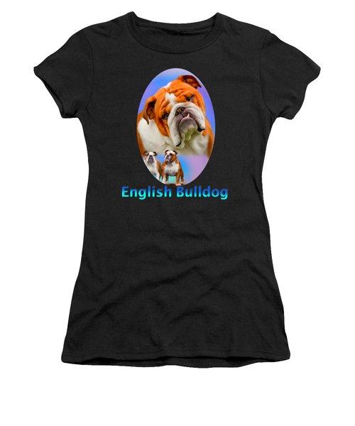 English Bulldog With Border Women's T-Shirt