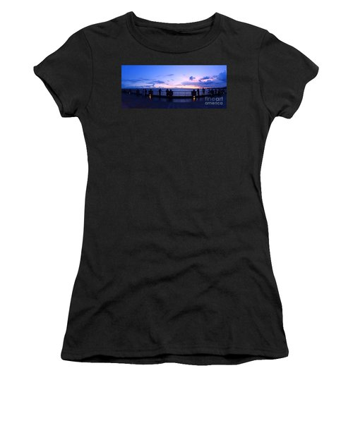 Enjoying The Beautiful Evening Sky Women's T-Shirt (Athletic Fit)