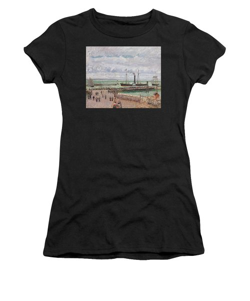 Entrance To The Port Of Le Havre And The West Breakwaters Women's T-Shirt