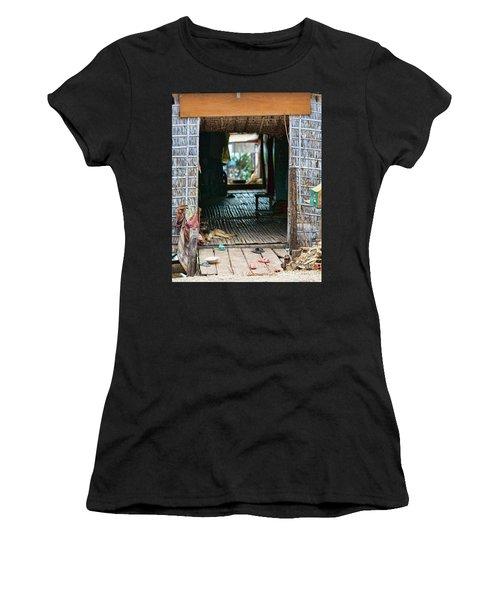 Entrance To Tonle Sap Home  Women's T-Shirt (Athletic Fit)