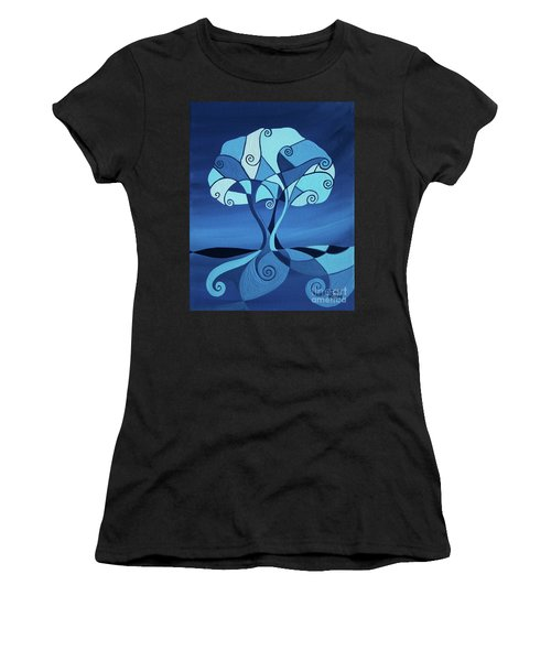 Enveloped In Blue Women's T-Shirt (Athletic Fit)