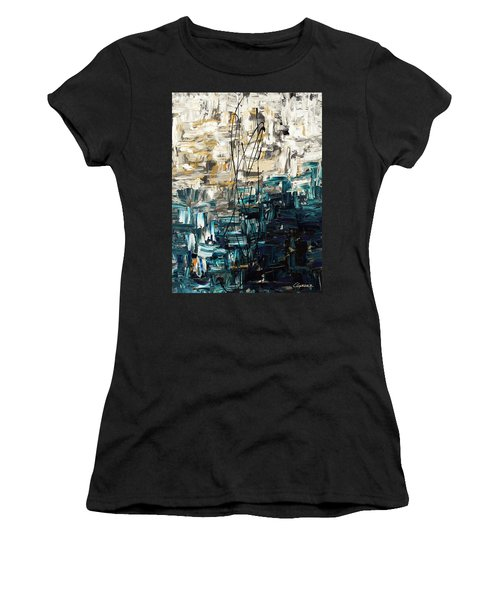 Women's T-Shirt (Junior Cut) featuring the painting Envisioning by Carmen Guedez