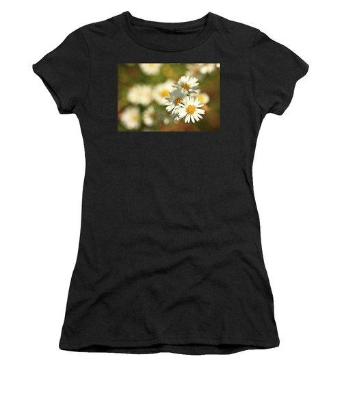 Erigeron Annuus Daisy Like Wildflower Women's T-Shirt (Athletic Fit)