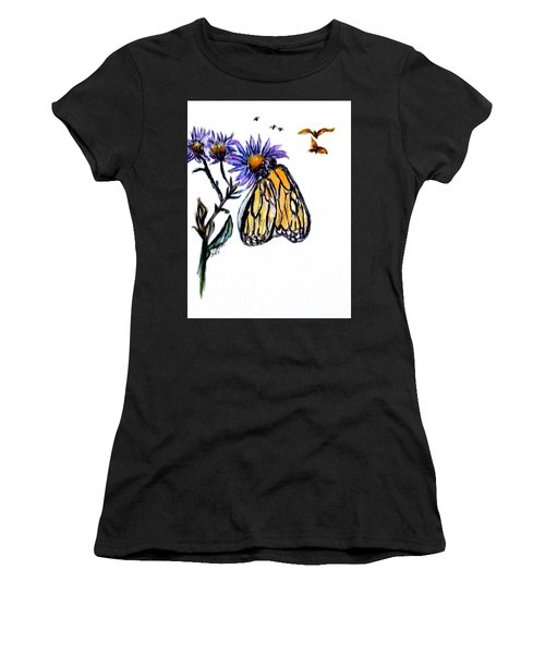 Erika's Butterfly One Women's T-Shirt (Junior Cut) by Clyde J Kell