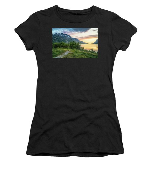 Ersfjord Sunset Women's T-Shirt (Athletic Fit)