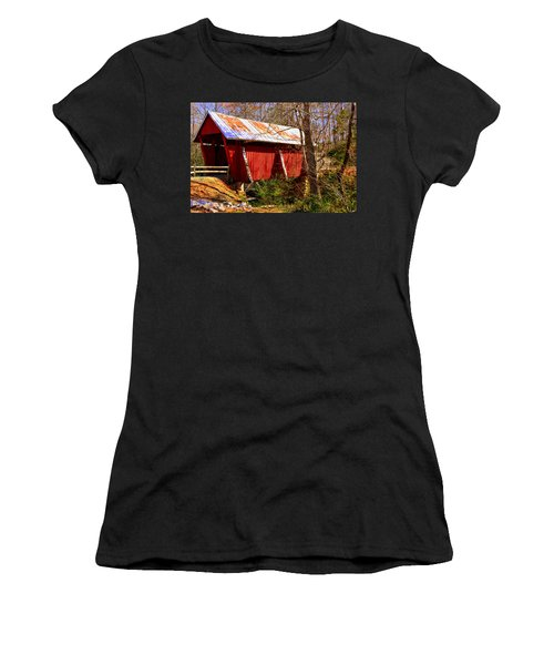 Est. 1909 Campbell's Covered Bridge Women's T-Shirt (Athletic Fit)