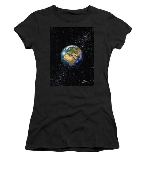 Europe, England, Middle East, North Africa As Seen From Space  Women's T-Shirt