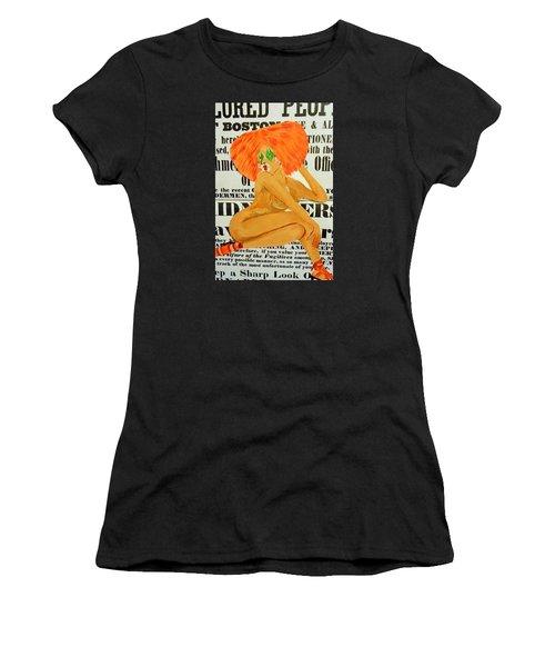 Eve  Caution Women's T-Shirt (Athletic Fit)