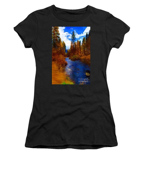 Evening Hatch On The Metolius Painting Women's T-Shirt (Athletic Fit)