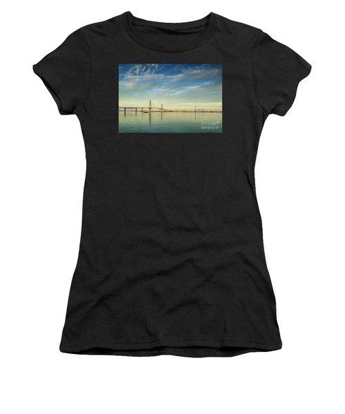 Evening Lights On The Bay Cadiz Spain Women's T-Shirt