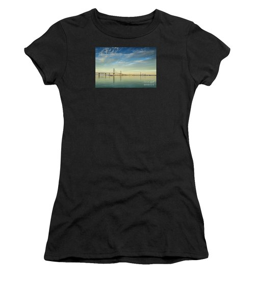 Evening Lights On The Bay Cadiz Spain Women's T-Shirt