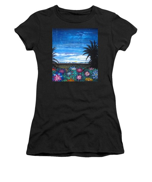Tropical Evening Women's T-Shirt (Athletic Fit)