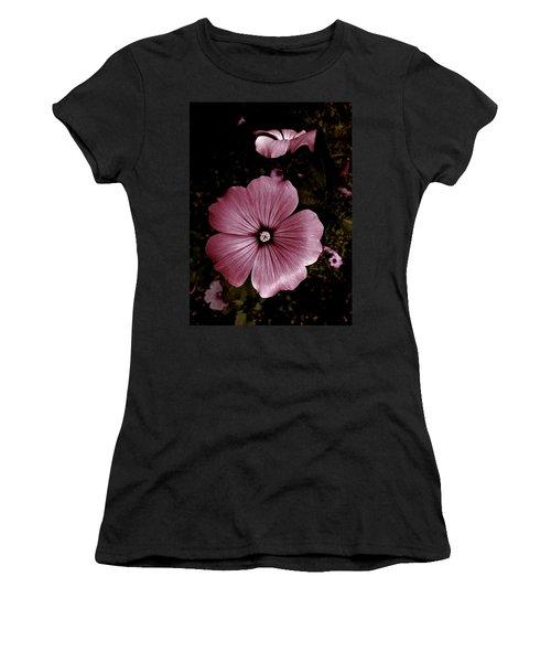 Women's T-Shirt (Junior Cut) featuring the photograph Evening Rose Mallow by Danielle R T Haney