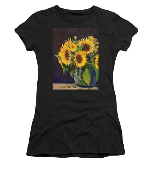 Evening Table Sun Flowers Women's T-Shirt (Athletic Fit)