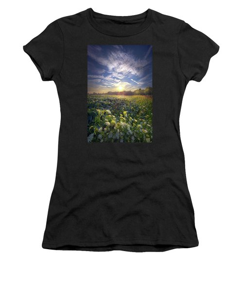 Women's T-Shirt featuring the photograph Every Sunrise Needs Its Day by Phil Koch