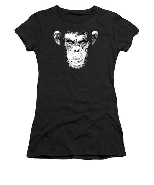 Evil Monkey Women's T-Shirt (Junior Cut) by Nicklas Gustafsson