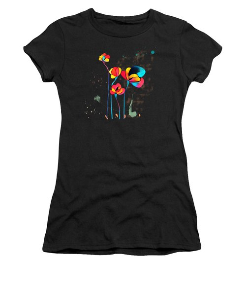 Exotic Watercolor Flower Women's T-Shirt (Athletic Fit)