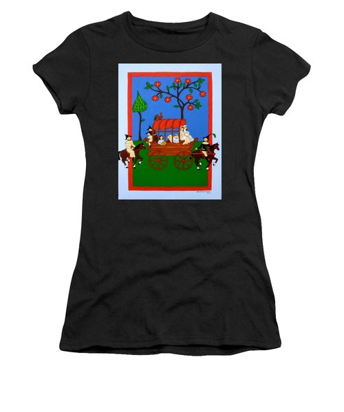 Women's T-Shirt (Junior Cut) featuring the painting Expulsion Of The Jews For M Spain by Stephanie Moore