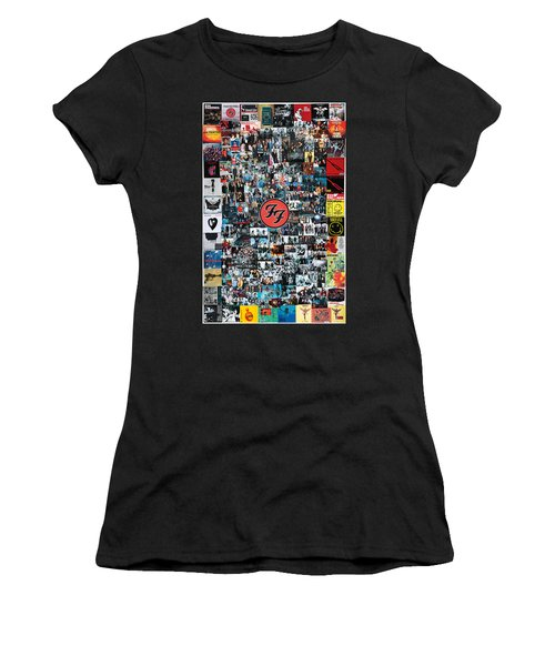 Extraordinary Hero Collage Women's T-Shirt (Athletic Fit)