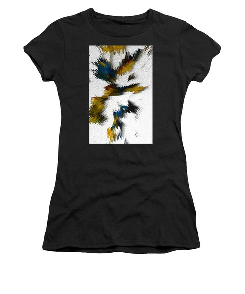 Women's T-Shirt (Athletic Fit) featuring the digital art Sculptural Series Digital Painting 612.102310extrusion by Kris Haas